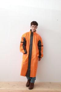 勁馳前開雨衣-橘色