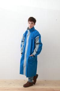 勁馳前開雨衣-藍色